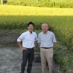 新潟、恩田酒造さんの蔵と田んぼを見学