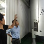 新潟、お福酒造さんの酒蔵を見学させて頂きました
