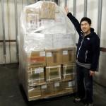 横浜の保税倉庫でパレッタイズ作業を見学