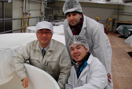 visiting sake maker