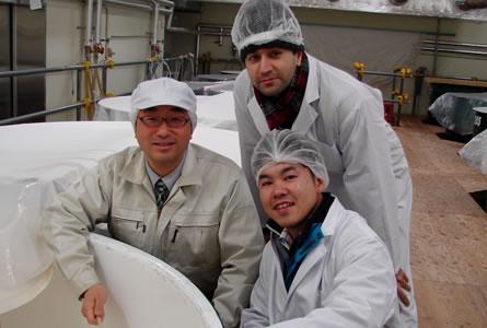 visiting sake maker