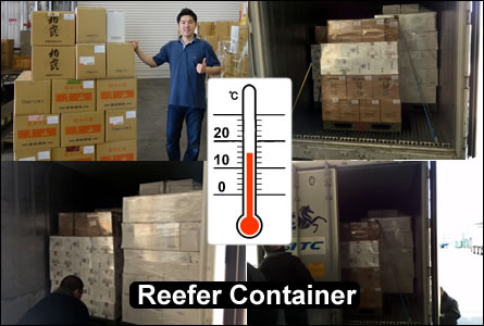 shipping sake reefer container