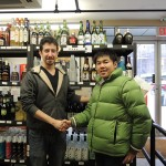 Sake research at Grace Wine & Spirits in NY, USA